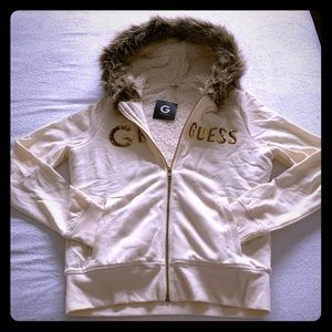 🦄3 for $50- G by Guess Fleece w/ Fur Hoodie